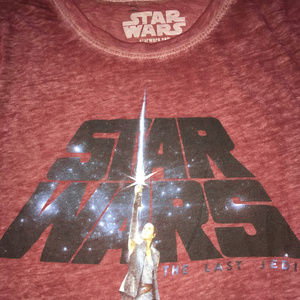 Star Wars Womens Short Sleeve Burnout T Shrt Sz S